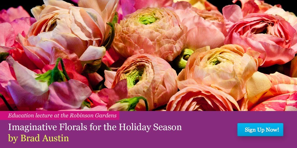Imaginative Florals for the Holiday Season – Presentation by Brad Austin