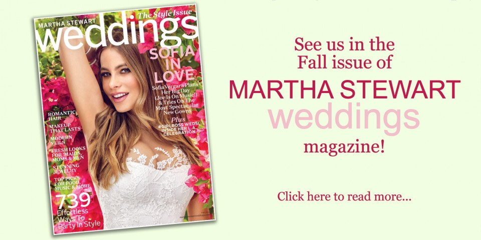 Martha Steward Weddings Photo Shoot at Robinson Gardens