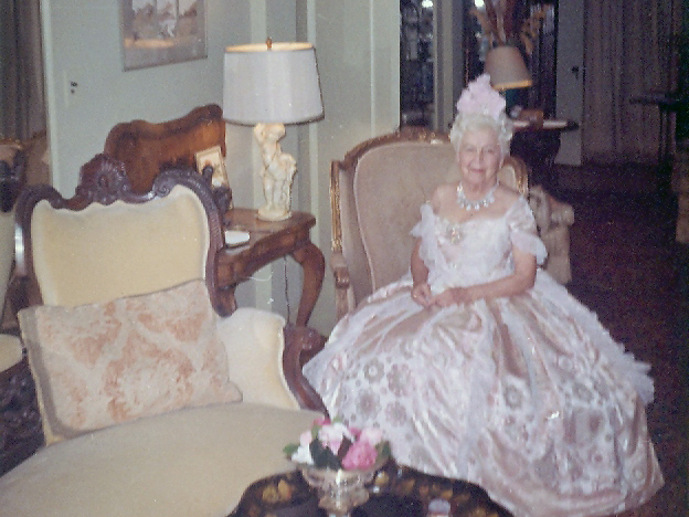 Mother of the VRG Historical estate, Virginia Robinson dressed for a Latin-themed costume party.