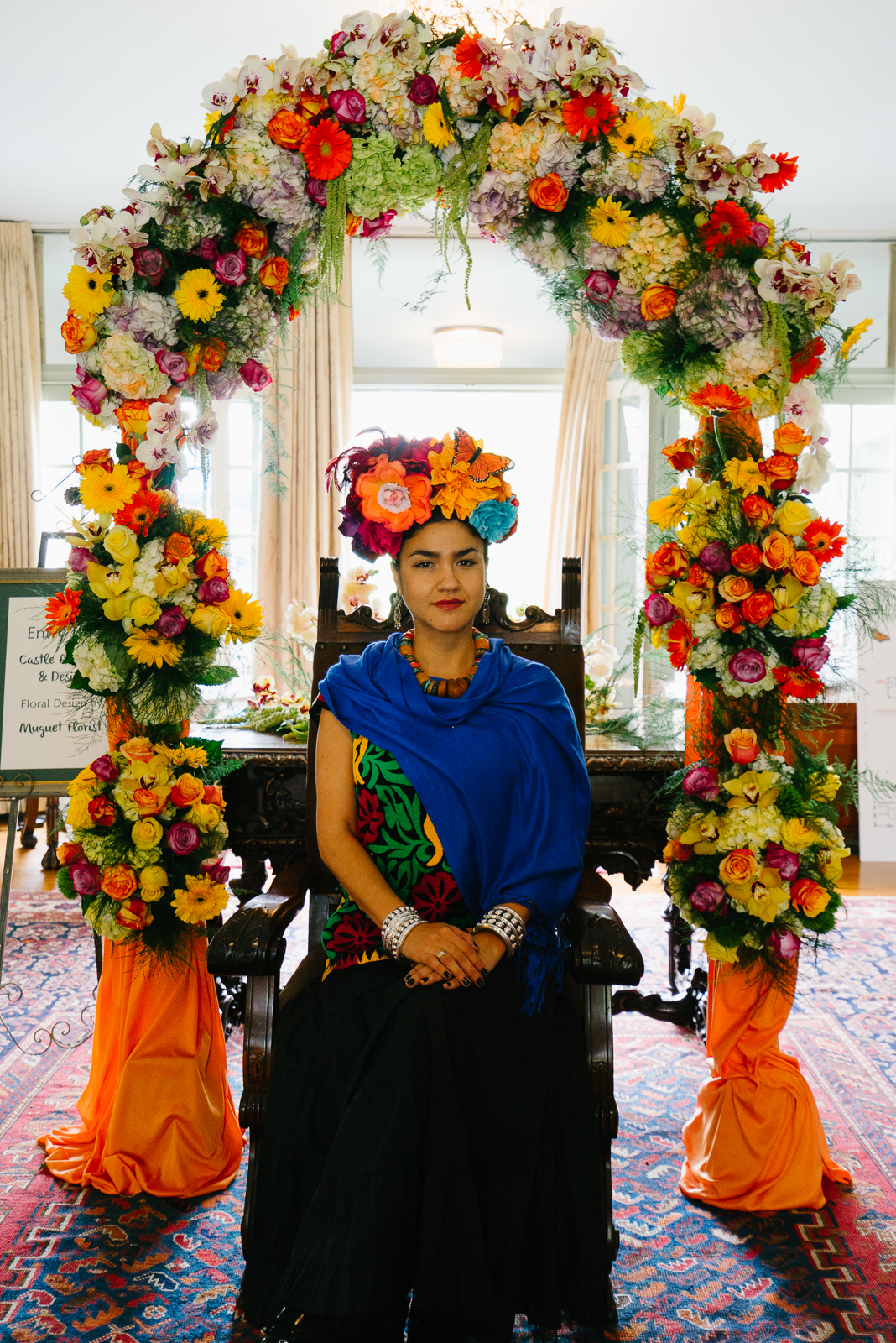 Our very own Frida Kahlo greeted guests as they arrived to VRG.