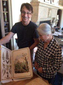 Tim Lindsay & Anne-Marie viewing botanical illustrations