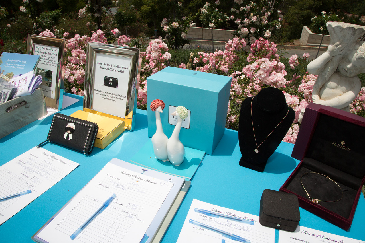 A few of the luxury Silent Auction items.