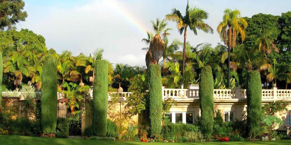 Rainbow over Virginia Robinson Gardens