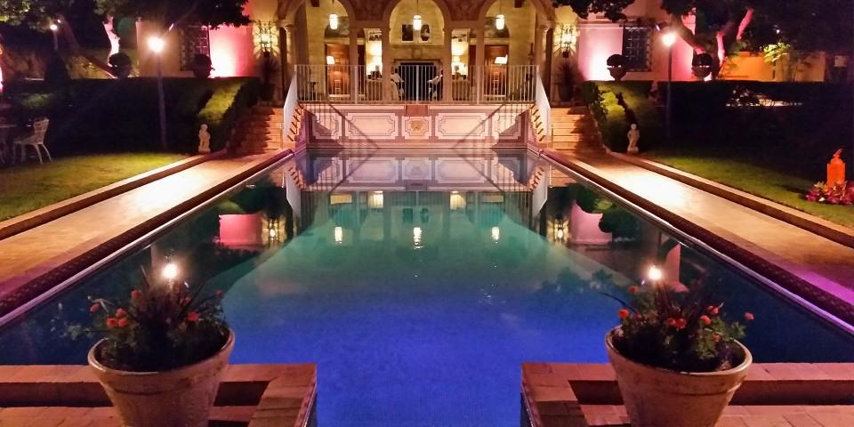 Garden Pool at night
