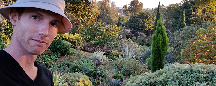 Groundskeeper Joshua Johnston and his Instagram of Robinson Gardens