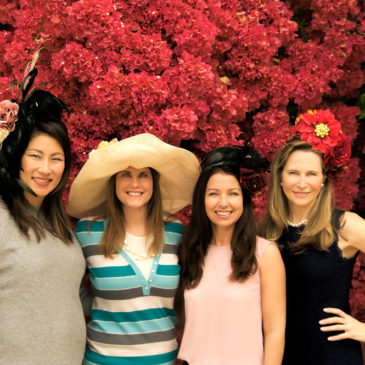 Kathy Choi, Dana Reston Lyons, Nicole Antoine, and Diane Jenkins are this year's Robinson Gardens - Garden Tour Chairs