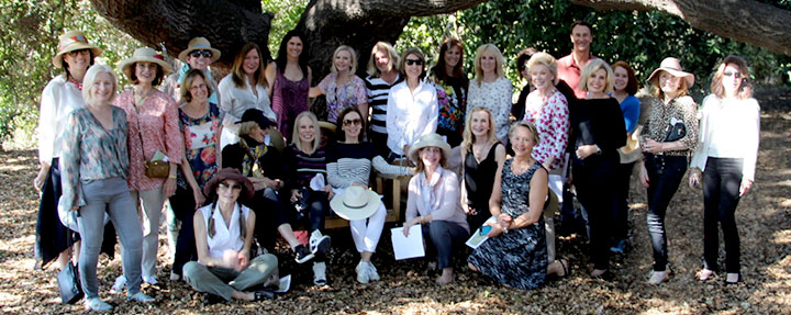 Fellows Enjoy Ojai Garden Tour