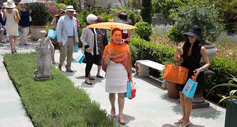Guests enjoy the Garden Tour and Garden Party at Virginia Robinson Gardens