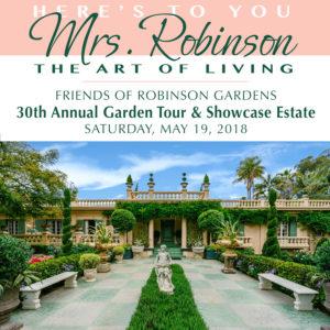 Purchase 2018 Garden Tour Tickets for Robinson Gardens Garden Tour