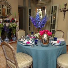 DINING ROOM Christofle www.christofle.com  310-858-8058 AND Sweet Pea's Custom Floral  sweetpeasbeverlyhills@gmail.com 310-843-0255