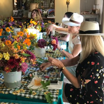 Special Flower Arranging Class for New VRG Members Delights Participants